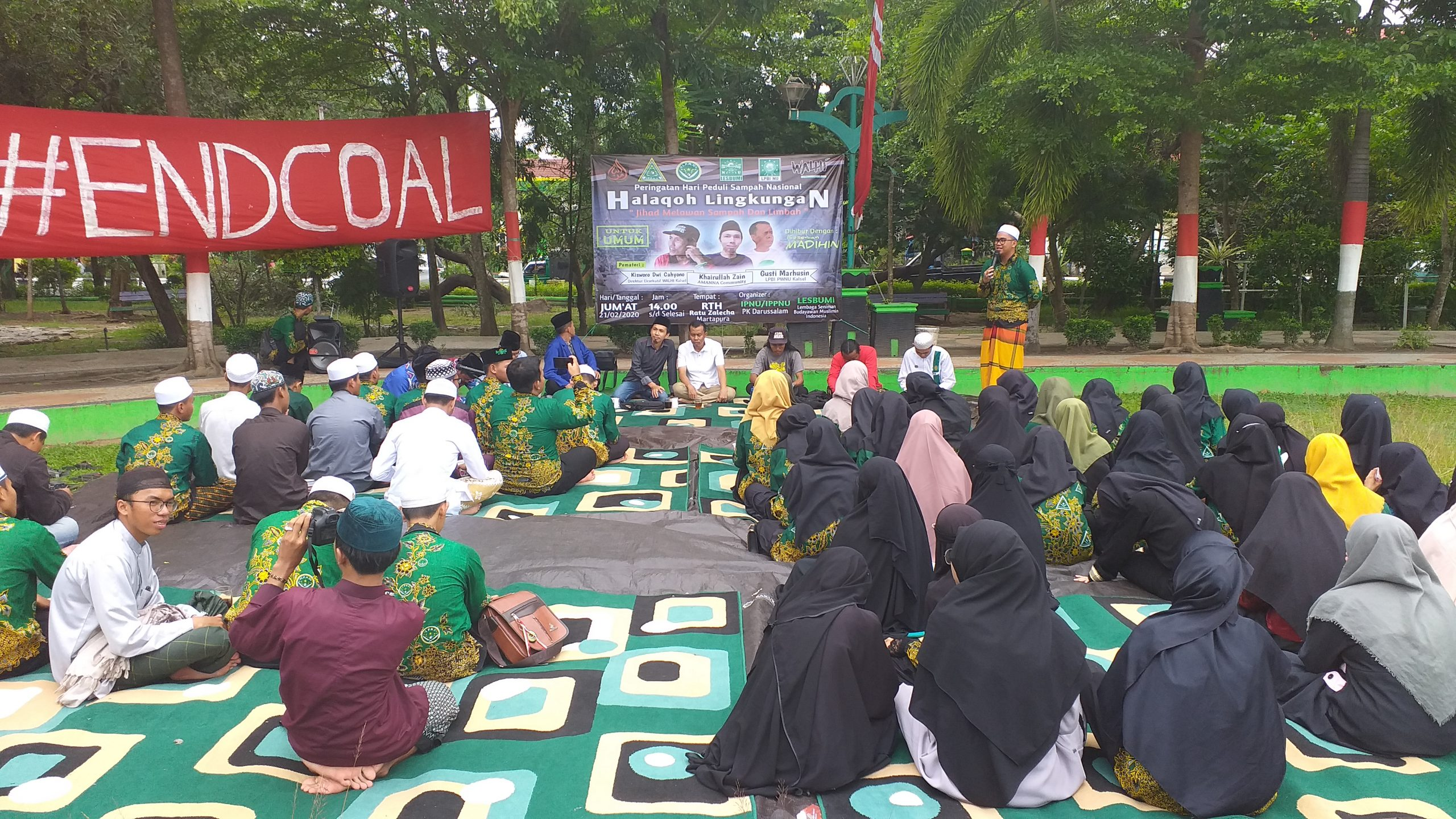 """Ketua IPNU PK Darussalam: """"kita ingin bentuk pelajar cinta lingkungan."""""""