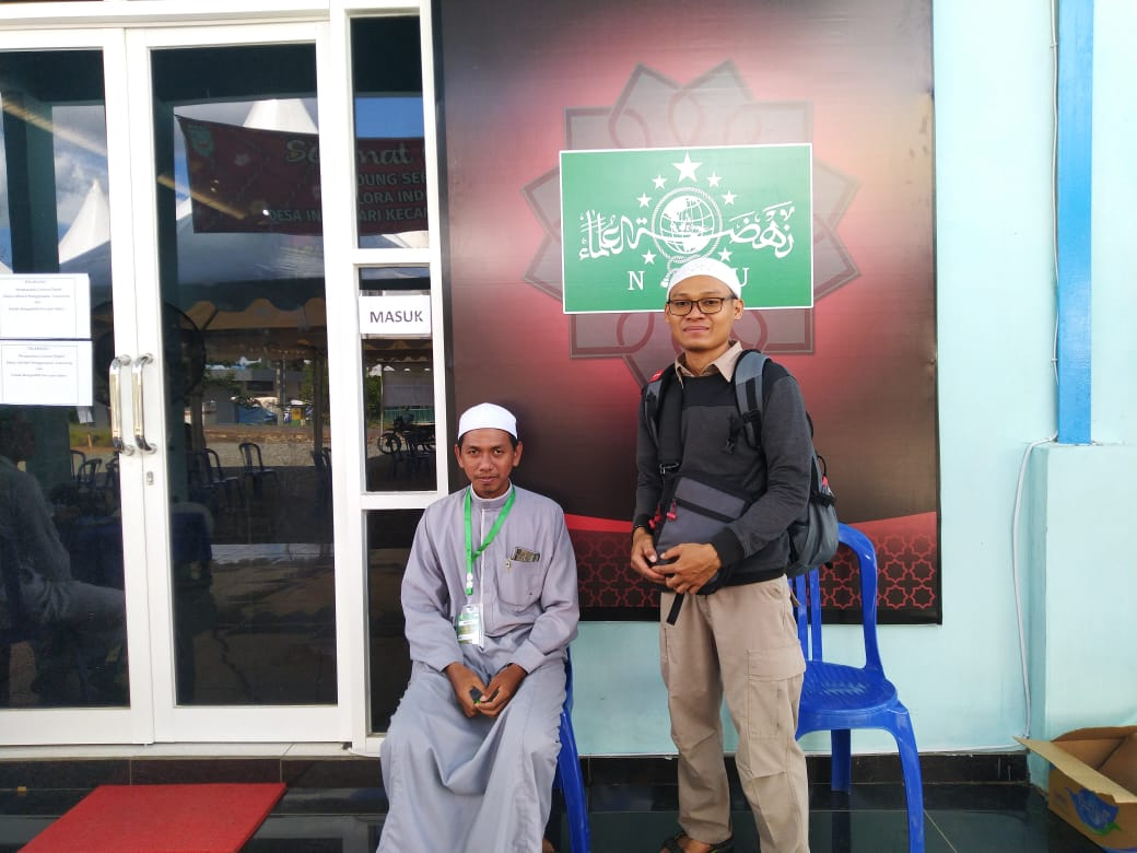 Pria asal Jakarta, Ali Utsman Nur Karim (31 tahun), kunjungi pameran artefak Nabi Muhammad SAW di Martapura Kabupaten Banjar.