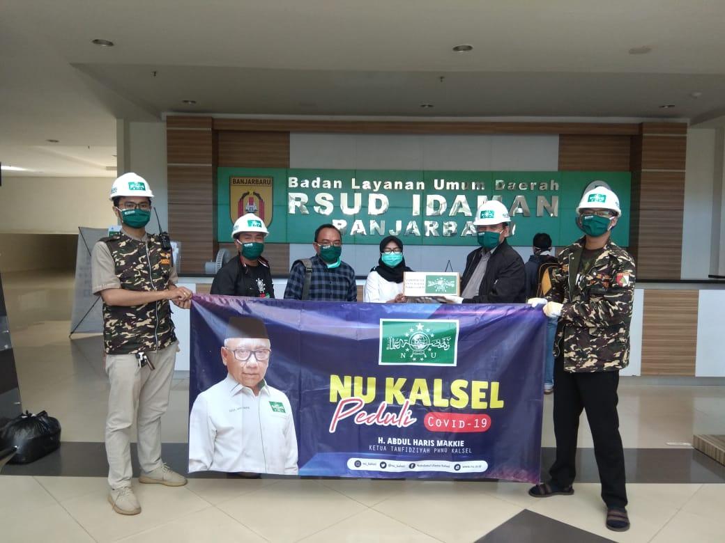 IMG 20200423 WA0019 - Satgas Covid-19 PWNU Kalsel Berbagi Masker di RS Idaman Banjarbaru
