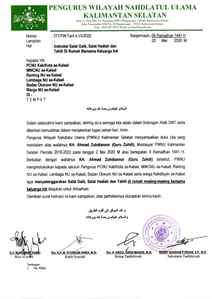 IMG 20200502 WA0021 743x1024 - Tuan Guru Zuhdianor Wafat, LDNU Banjar Gelar Tahlilan Berjamaah Online