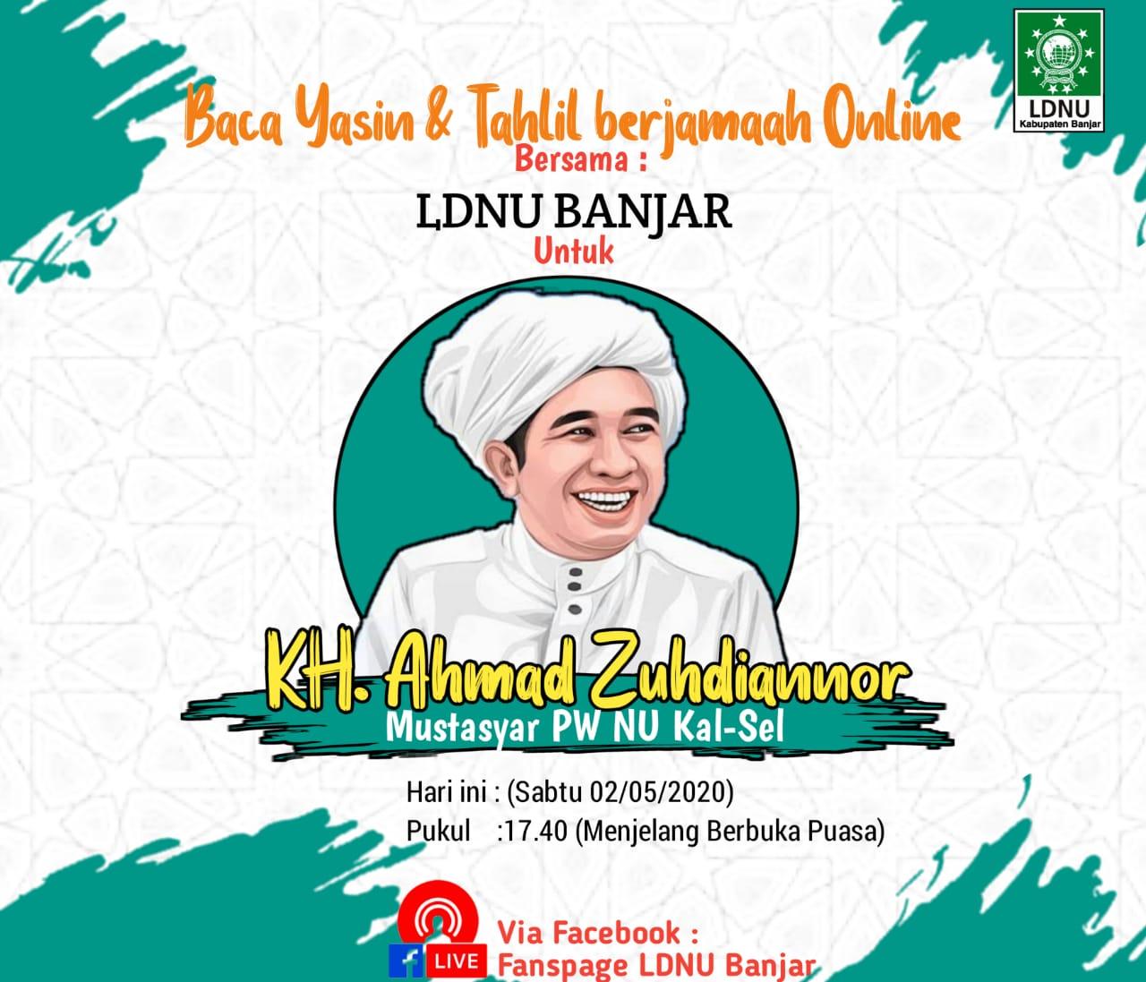 IMG 20200502 WA0030 - Tuan Guru Zuhdianor Wafat, LDNU Banjar Gelar Tahlilan Berjamaah Online
