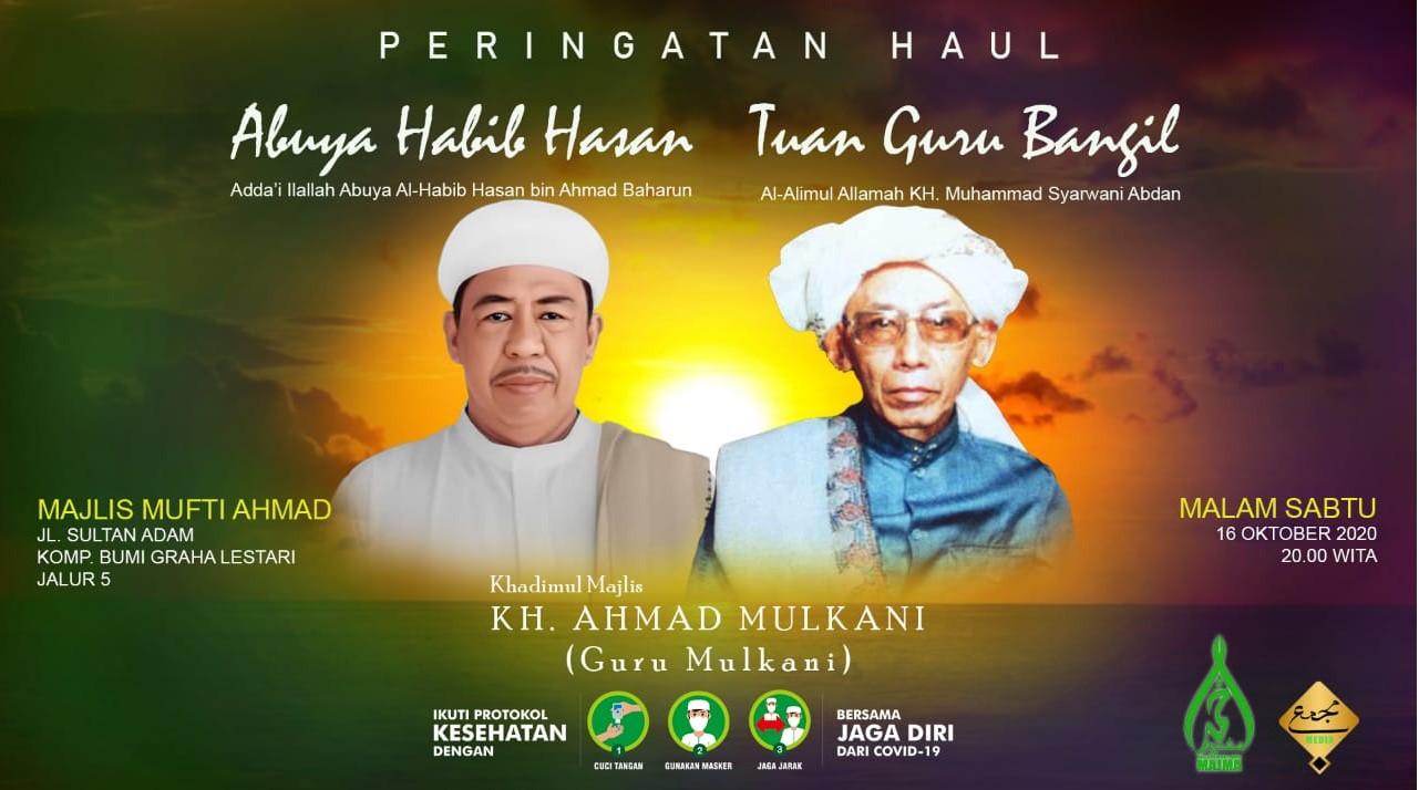 Majelis Mufti Ahmad memperingati Haul Guru Bangil dan Habib Hasan Baharun malam ini.Foto-Istimewa
