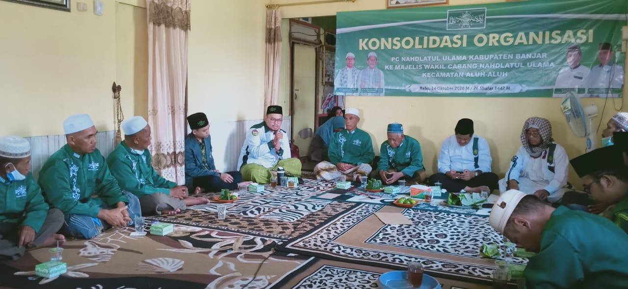 PCNU Kabupaten Banjar Konsolidasi ke mWC NU Kabupaten Banjar. Foto-Banua.co