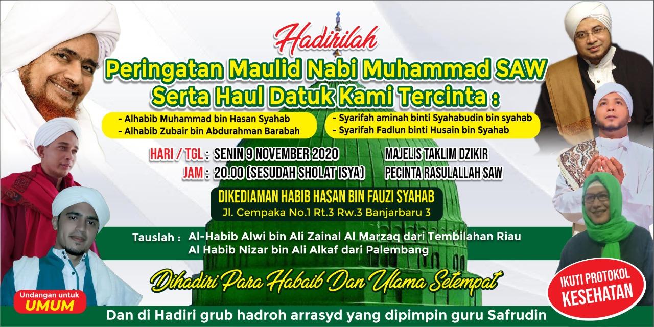 IMG 20201031 WA0039 - Gelar Peringatan Maulid, Habib Hasan Syahab Beri Kesempatan Jamaah Mencium Kiswah Makam Rasulullah