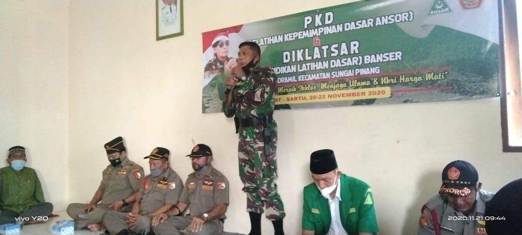 PKD dan Diklatsar Ansor Banser di Sungai Pinang