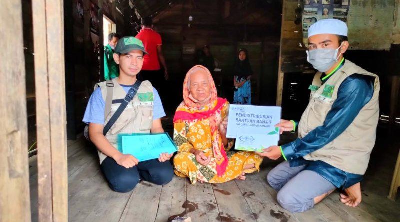 IMG 20210319 WA0006 1 800x445 - Pasca Banjir, LAZISNU Banjar Masih Salurkan Bantuan