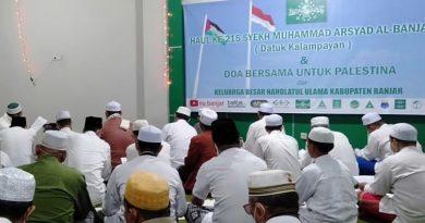 NU Kabupaten Banjar doakan Palestina di Haul Datu Kelampayan. Foto-banua.co