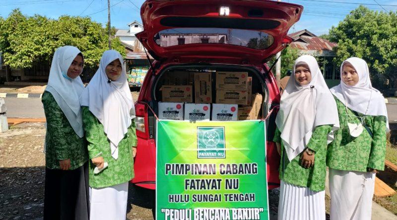 IMG 20210603 WA0057 1 800x445 - Peduli Korban Banjir, PC Fatayat NU HST Distribusikan Bantuan