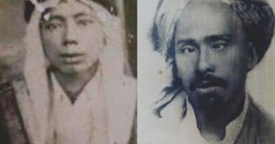 Syekh Kasyful Anwar (kanan) dan Syekh Ali Al Banjari, juru tulis Syekh Bakri Satha (kiri). Foto-Istimewa