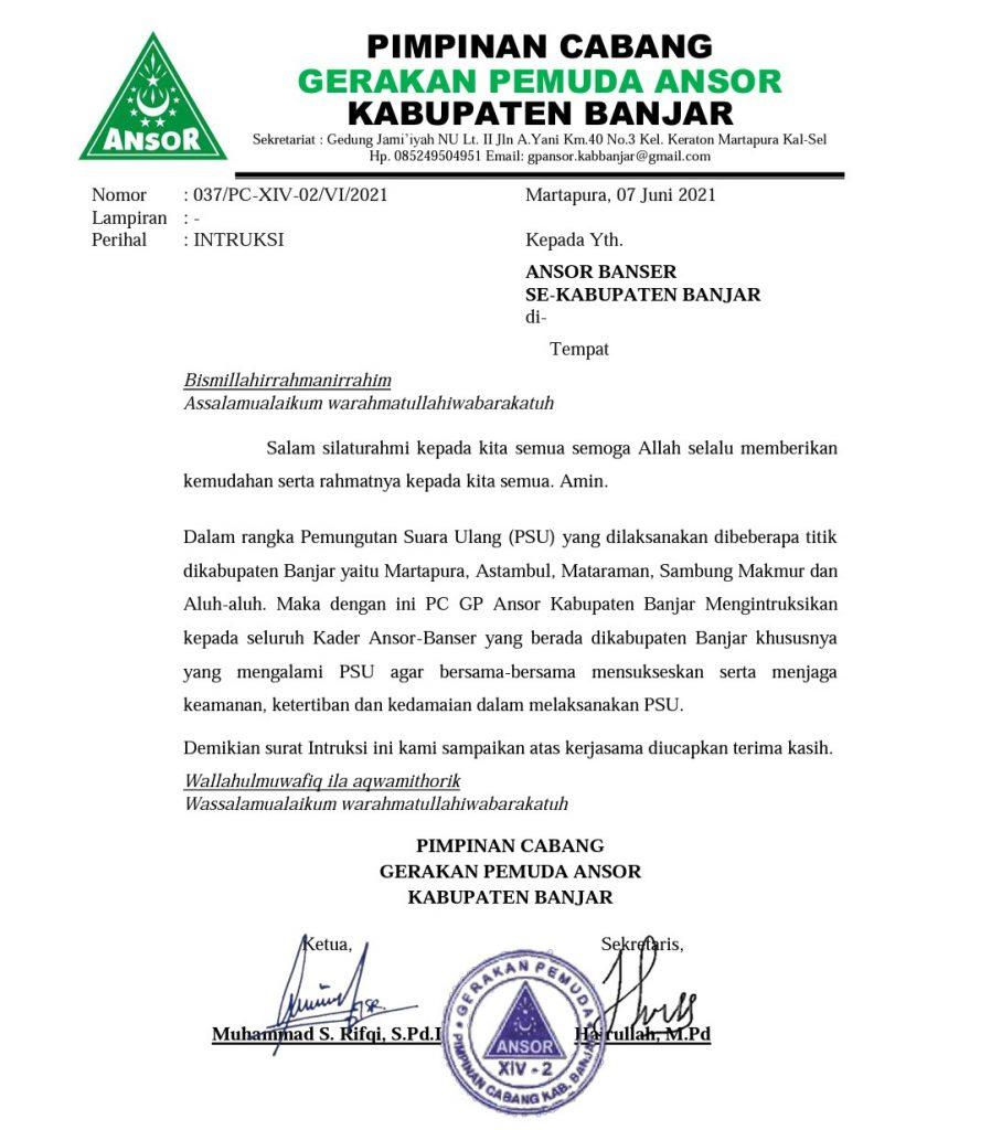 Screenshot 20210608 123442 1 898x1024 - PSU Pilgub Kalsel, Ini Instruksi PC GP Ansor Banjar Kepada Kadernya