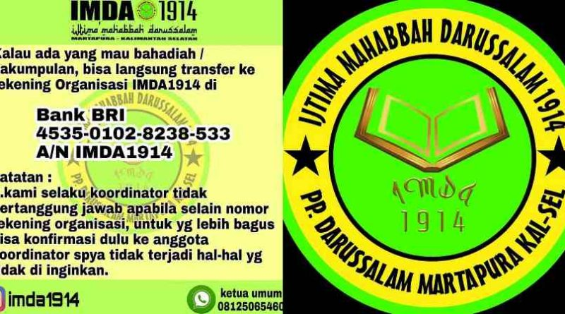 IMDA1914 Organisasi Alumni Pesantren Darussalam